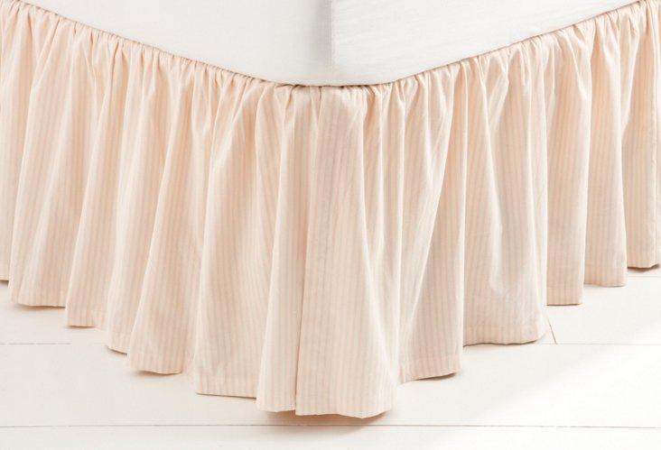 Petal Stripe Bed Skirt