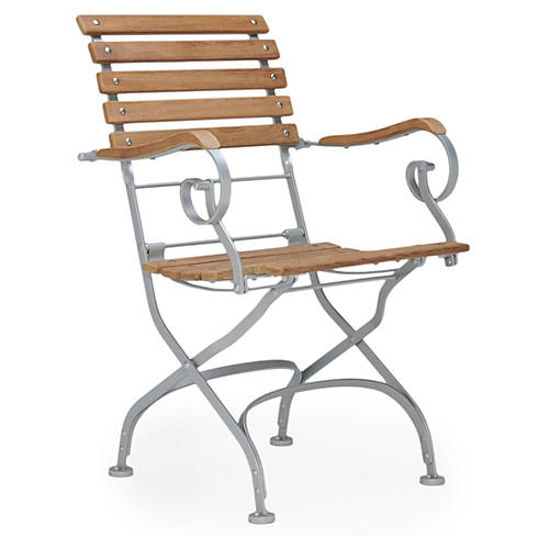 Jardin Armchair, Silver/Natural