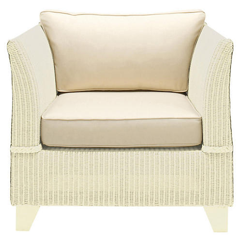 Gondola Club Chair, Cream/Ivory