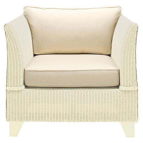 Gondola Club Chair, Cream/Ivory