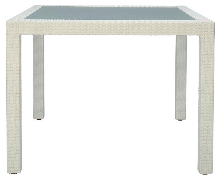 "Ascona 59"" Square Dining Table, Limestone"