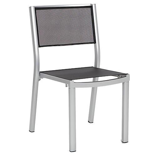 Alu Side Chair, Silver/Black