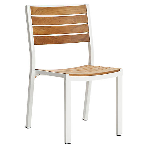 Alu Side Chair, White/Natural