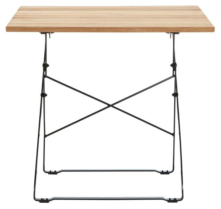 "DNU, Dis 31"" Compact Teak Square Table"