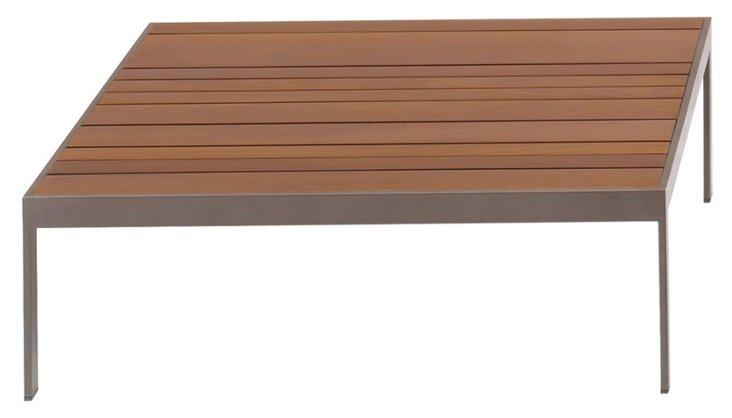 "Wood 32"" Slat Coffee Table, Natural"