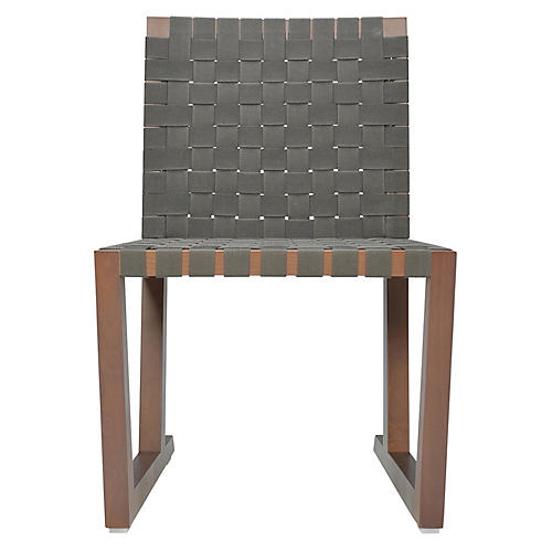 Serena Side Chair, Natural/Graphite