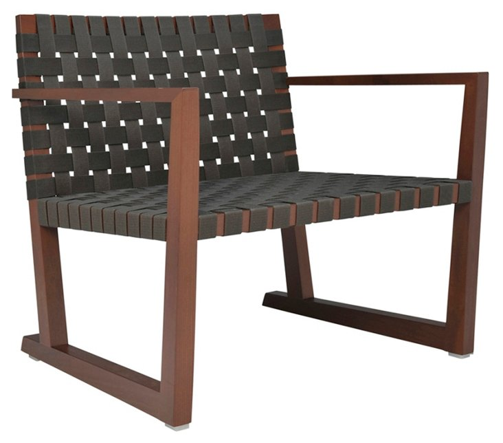 Serena Lounge Chair w/ Arms, Graphite
