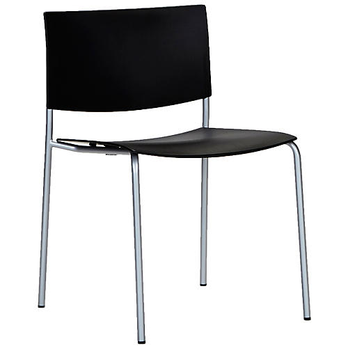 Sitt Side Chair, Silver/Black