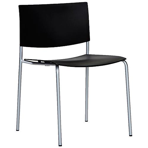 Sitt Side Chair, Silver/Black