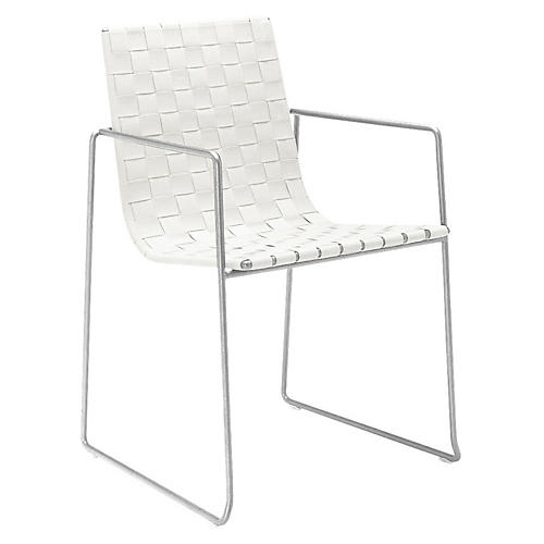 Trenza Armchair, White