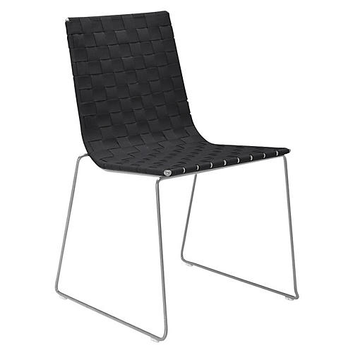 Trenza Side Chair, Graphite