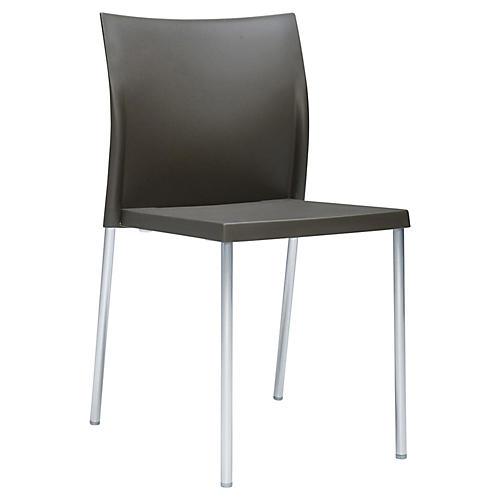 Bikini Side Chair, Silver/Bronze