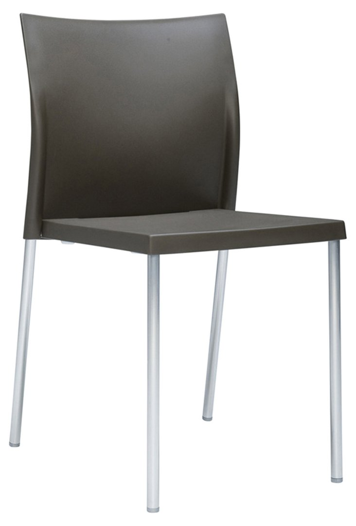 Bikini Side Chair, Bronze/Silver