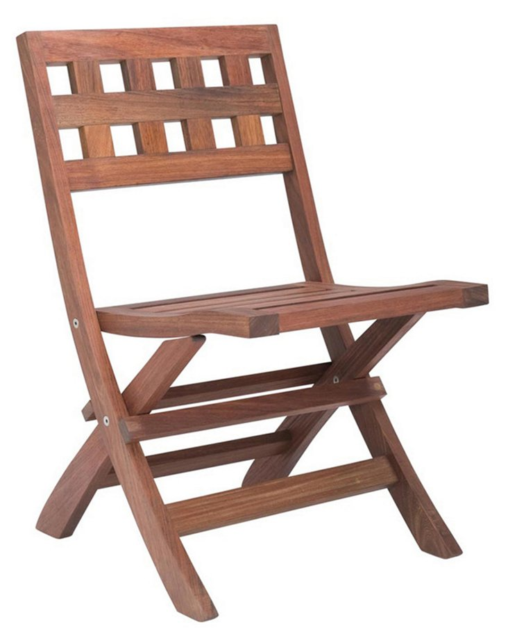 Marbella Folding Side Chair, Natural
