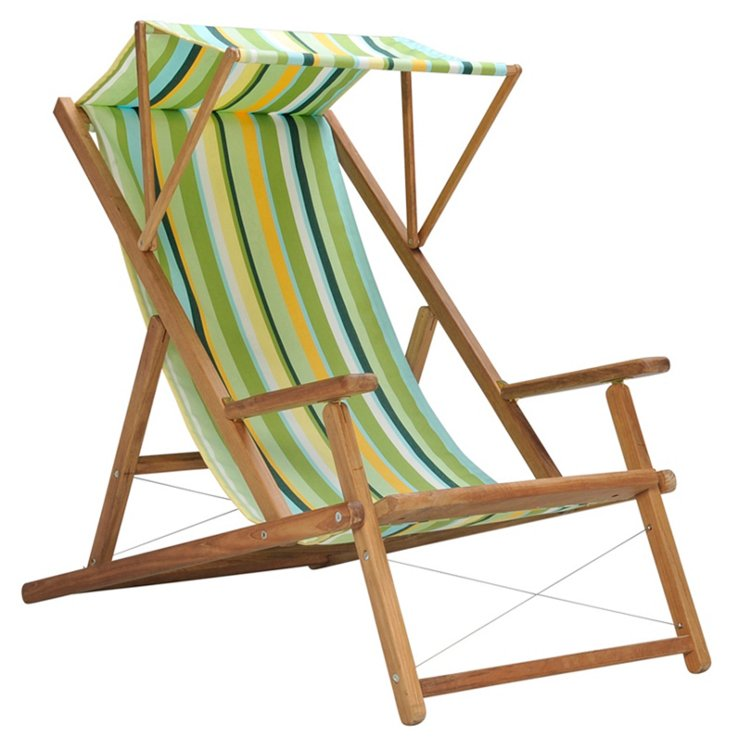Cabin Deck Chair w/ Awning, Lime
