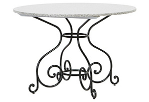"Classic Vienna 26""Dia Table, Black/Green*"