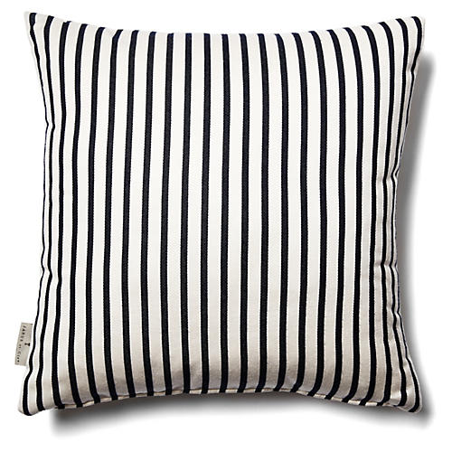 Bandeau 18x18 Outdoor Pillow, Navy
