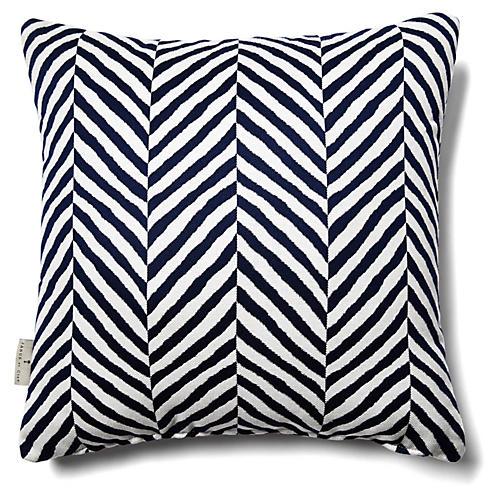 Safari 18x18 Outdoor Pillow, Navy