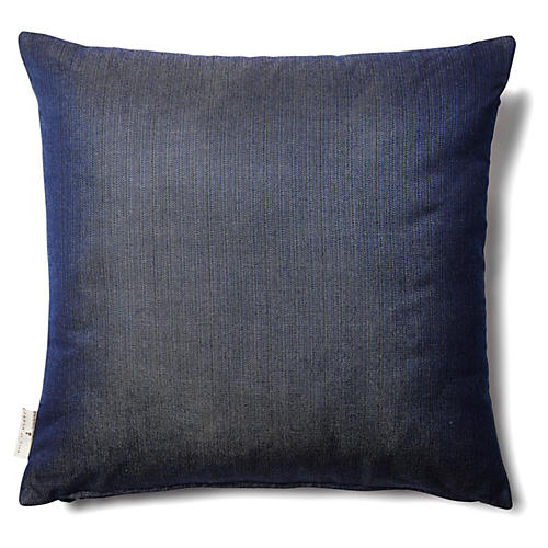 Antique Denim 18x18 Outdoor Pillow, Navy