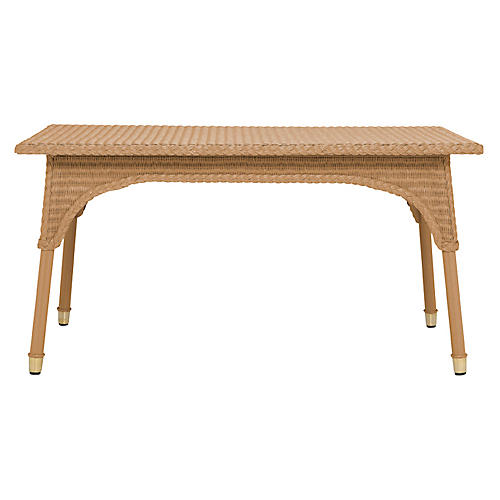 Lundy Dining Table, Natural/Gold