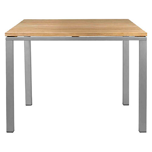 Mistral Dining Table, Silver/Natural