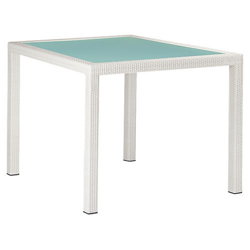 Barcelona Dining Table, Off-White/Frosted