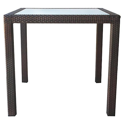 Marrakesh Dining Table, Bronze/Frosted