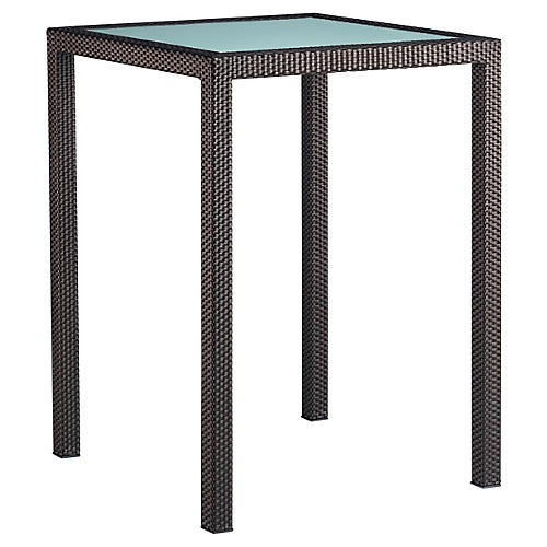 Spa Bar Table, Bronze/Ice
