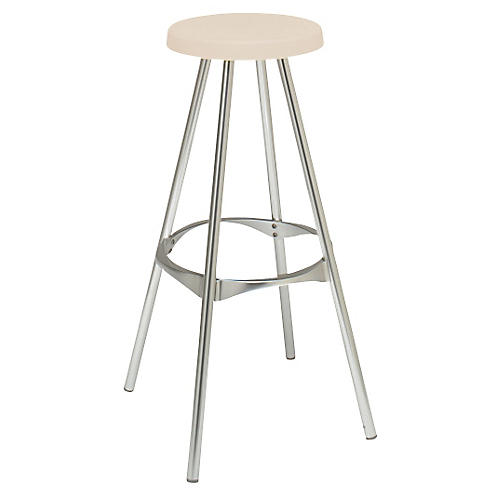Twist Barstool, Silver/Natural