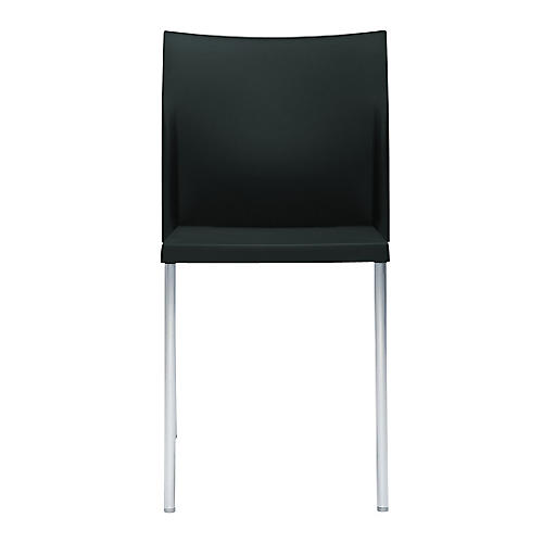 Bikini Side Chair, Silver/Black