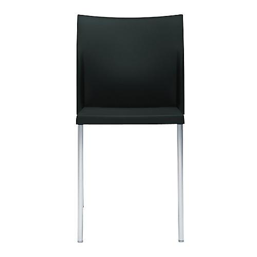 Bikini Side Chair, Silver/Black