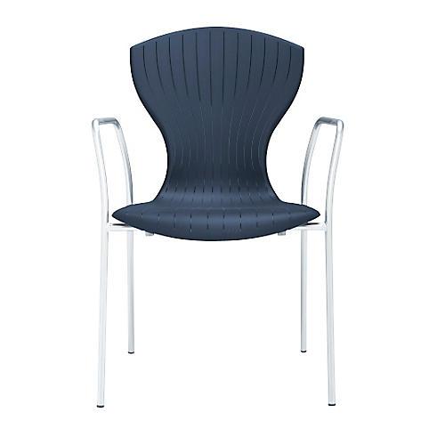 Corset Armchair, Silver/Dark Gray