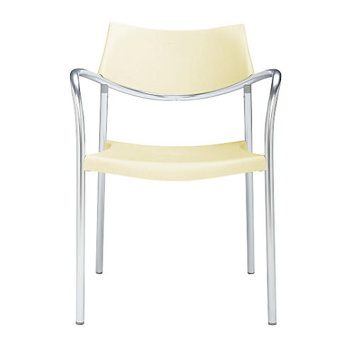 Splash Armchair, Silver/Vanilla