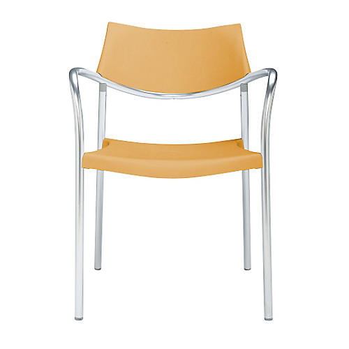 Splash Armchair, Silver/Orange
