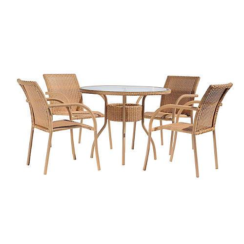 Viola 5-Pc Dining Set, Natural
