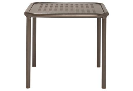 Viola Square Side Table, Bronze