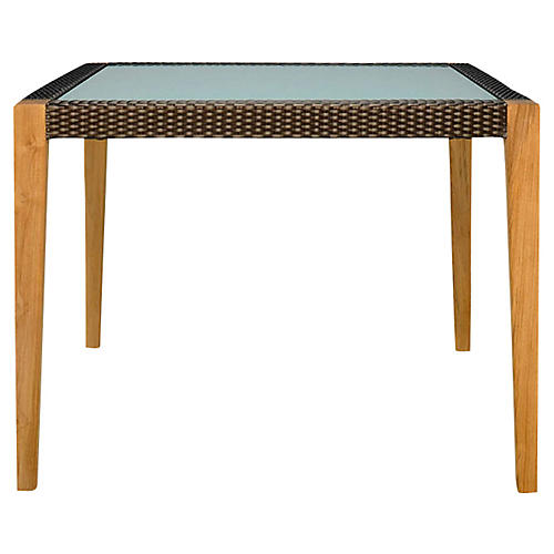Quinta Square Dining Table, Natural/Bronze