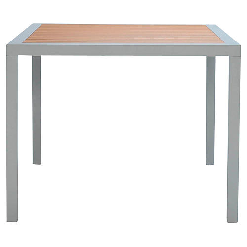 Koko Dining Table, Silver/Natural