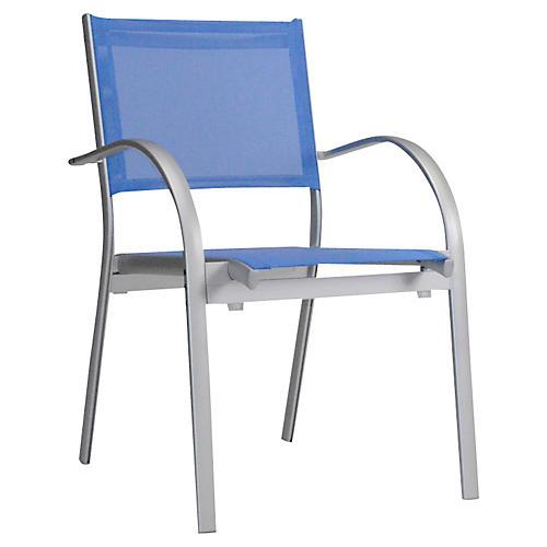 Wave Armchair, Silver/Lavender