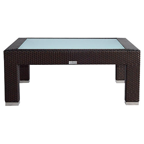 Pacific Square Coffee Table, Bronze