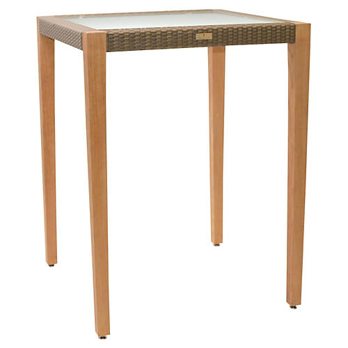 Quinta Square Bar Table, Khaki/Natural