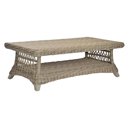 Arbor Rectangular Coffee Table, Seashell