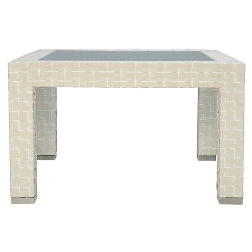 Pacific Side Table, Limestone
