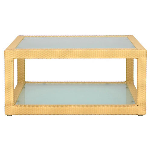 Ascona Square Coffee Table, Pecan