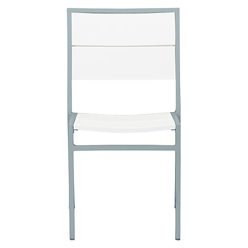 Koko Side Chair, Silver/White