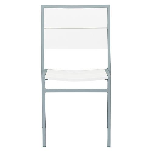 Koko Side Chair, Silver/White