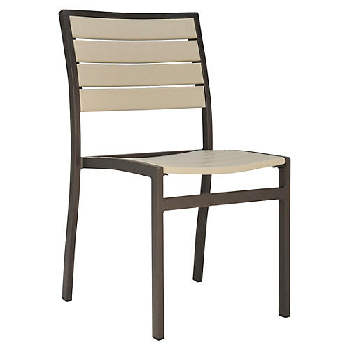 Koko Side Chair, Bronze/White