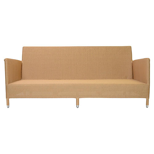 Cordoba Sofa, Natural/Chrome