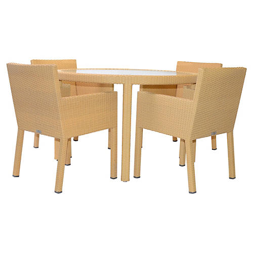 Milan II 5-Pc Dining Set, Pecan