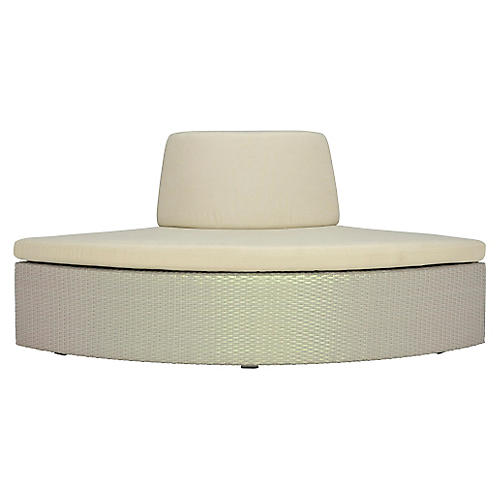Closed Curved-Out-Wide Module, Beige
